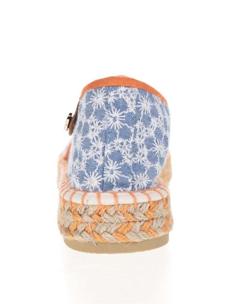 Oranžovo-modré espadrilky Tamaris
