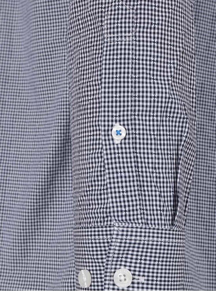 Cămașă albastru închis Original Penguin Gingham din bumbac cu model în carouri și buzunar