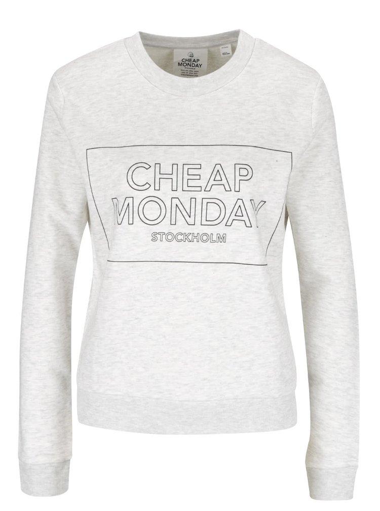 Bluză gri deschis melanj Cheap Monday cu print