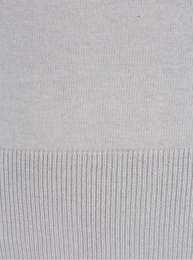 Bluza gri Miss Selfridge din jerseu subtire cu maneci clopot