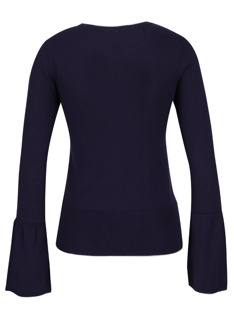 Tmavě modrý lehký svetr Miss Selfridge