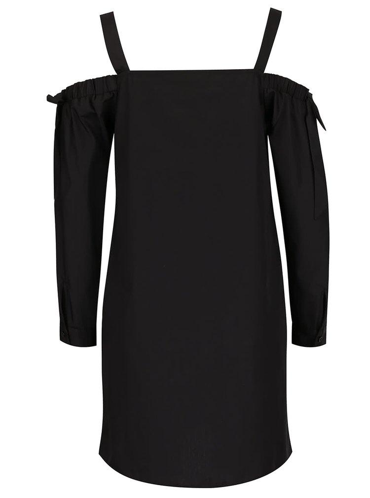 Bluză neagră Miss Selfridge cu imprimeu pe umeri