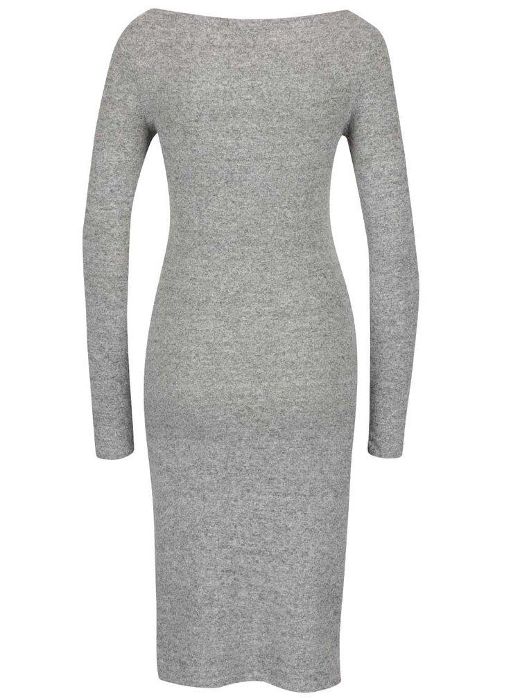 Šedé žíhané šaty Miss Selfridge