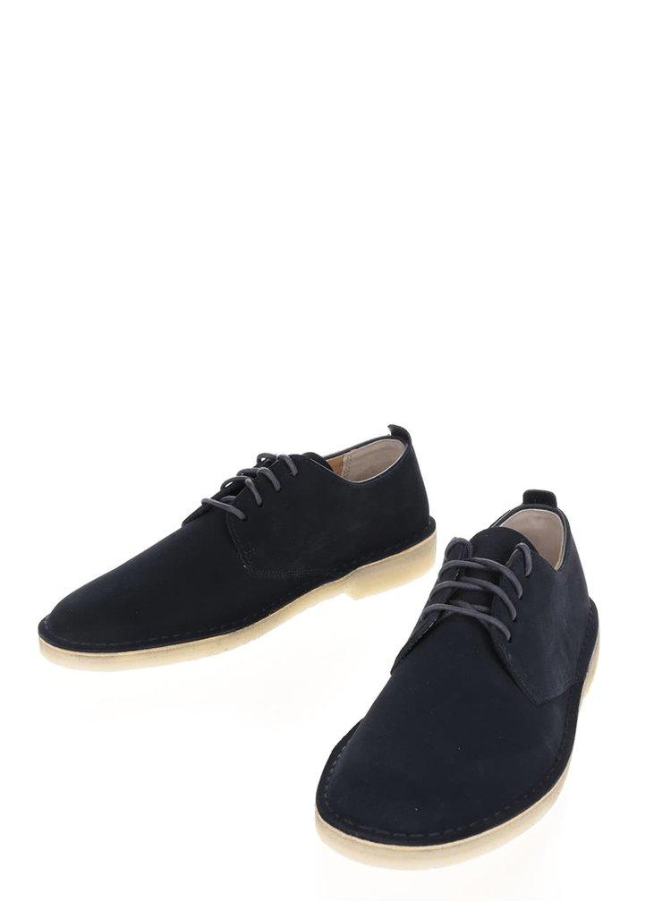 Pantofi albastru închis Clarks Desert London din piele