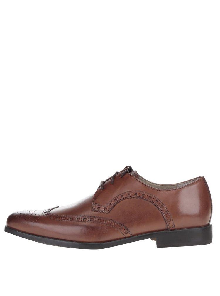 Pantofi maro brogue Amieson Limit din piele