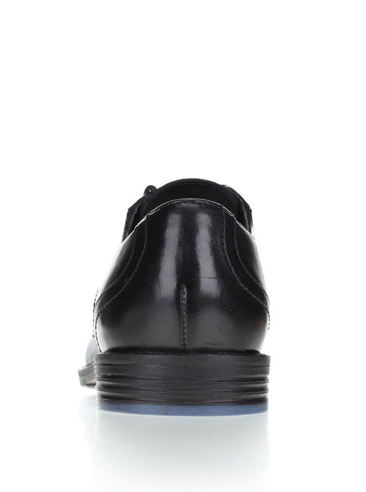 Černé pánské kožené polobotky Clarks Prangley Walk