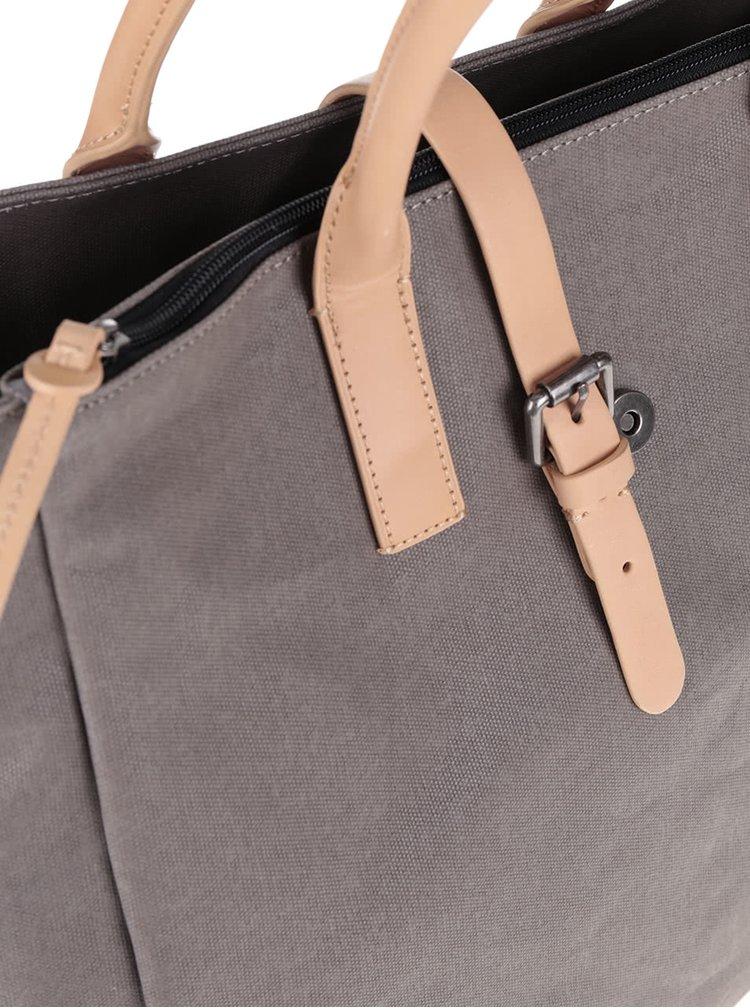 Šedá pánská taška s koženými detaily Clarks The Gray