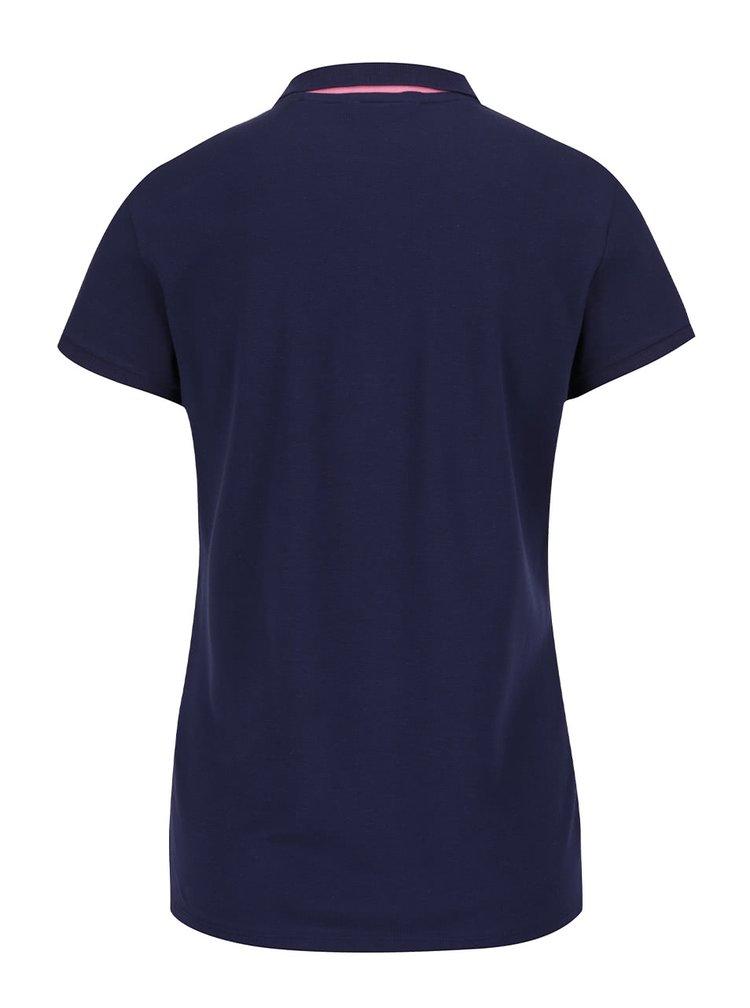 Tmavě modré dámské polo tričko GANT Pique