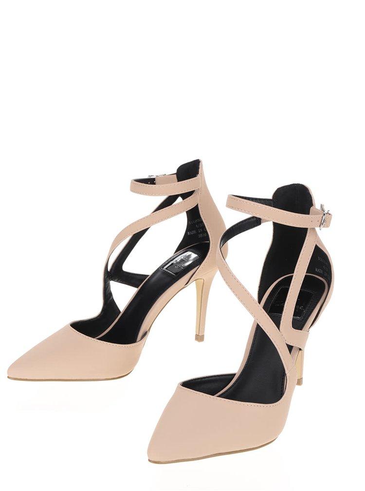 Pantofi stiletto bej Miss Selfridge cu barete