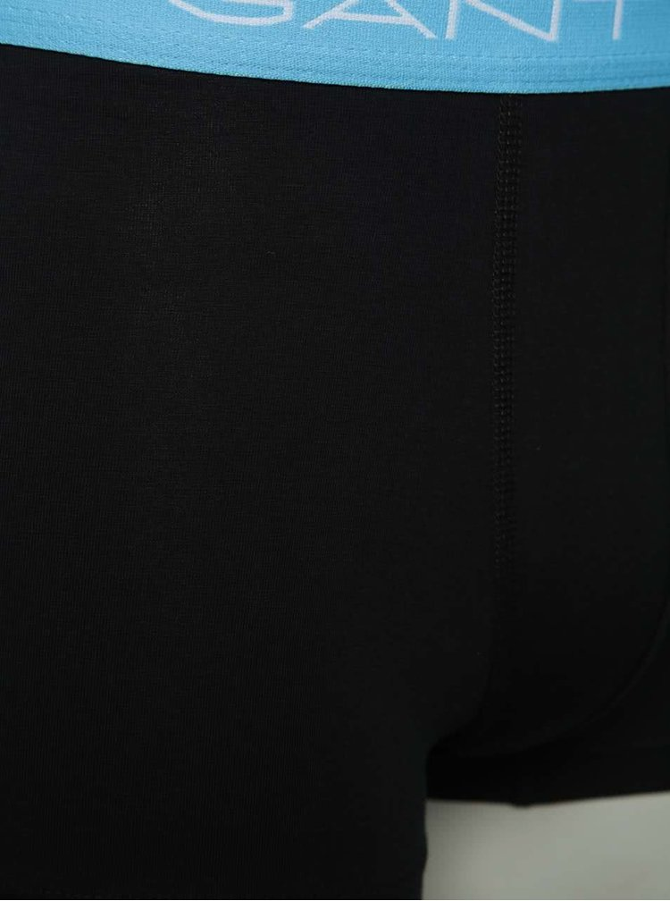 Sada tří  boxerek v černé barvě GANT