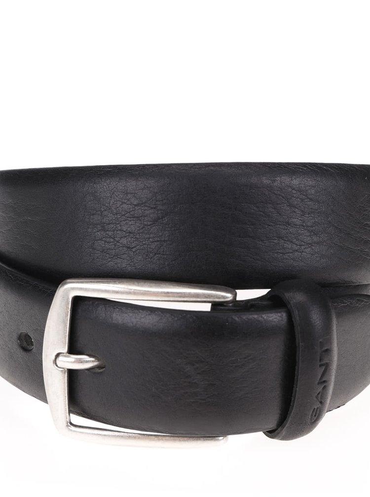 Černý pánský kožený pásek GANT Classic