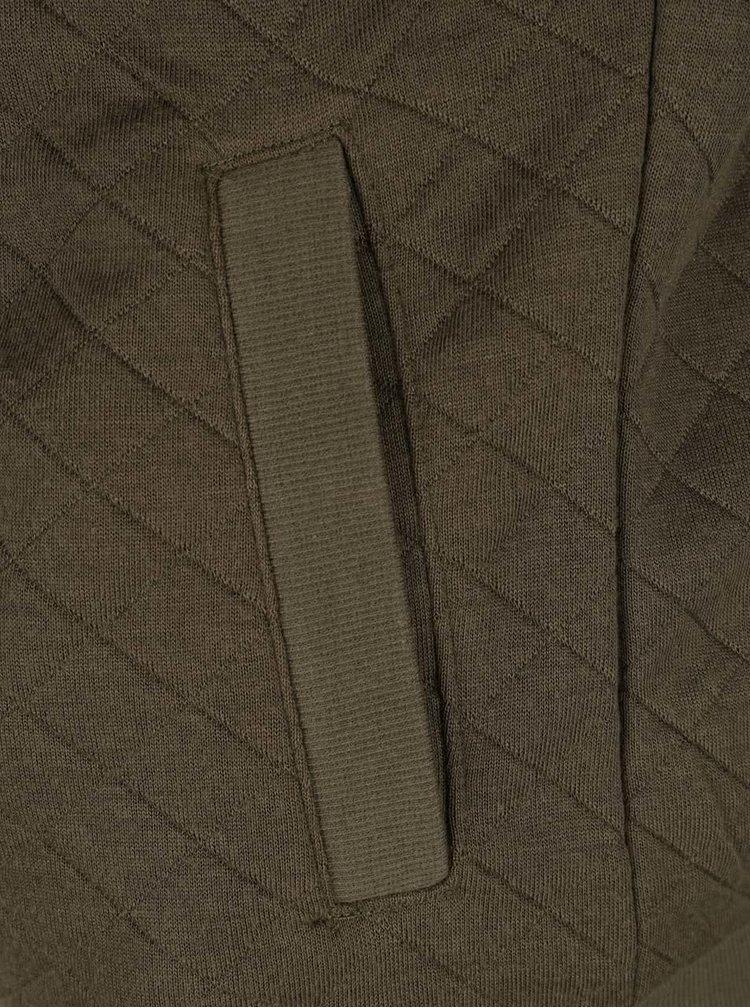 Khaki prošívaný mikinový bomber ONLY Joyce