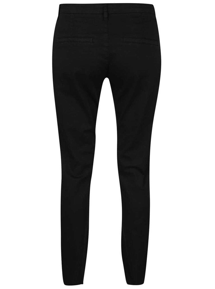 Pantaloni chino negri Selected Femme Ingrid