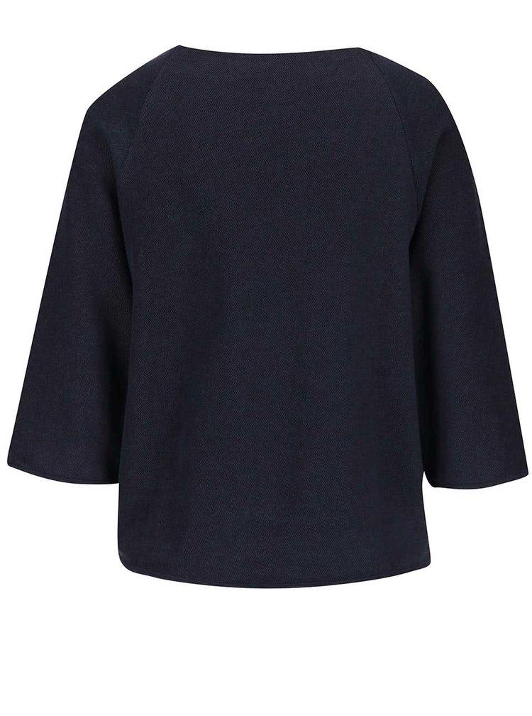 Pulover crop bleumarin Selected Femme Jula cu mâneci ample