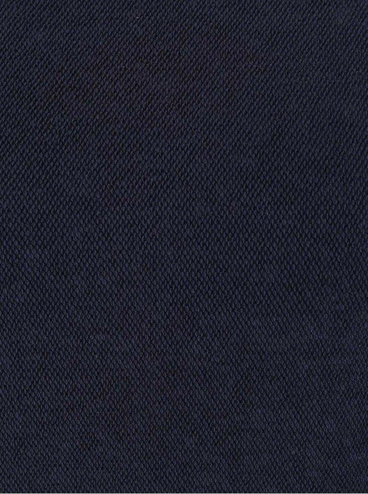 Pulover crop bleumarin Selected Femme Jula cu maneci ample