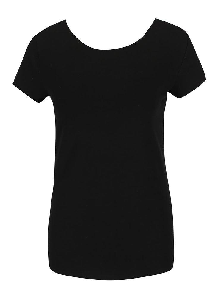 Černé tričko s pásky na zádech ONLY Live