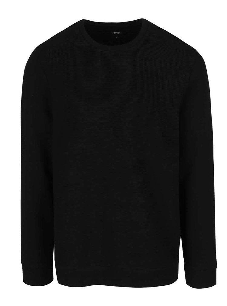 Bluza neagra Burton Menswear London din bumbac