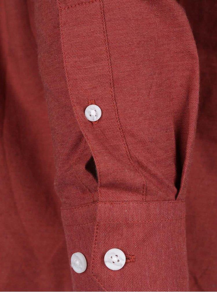Červená neformálna košeľa Burton Menswear London