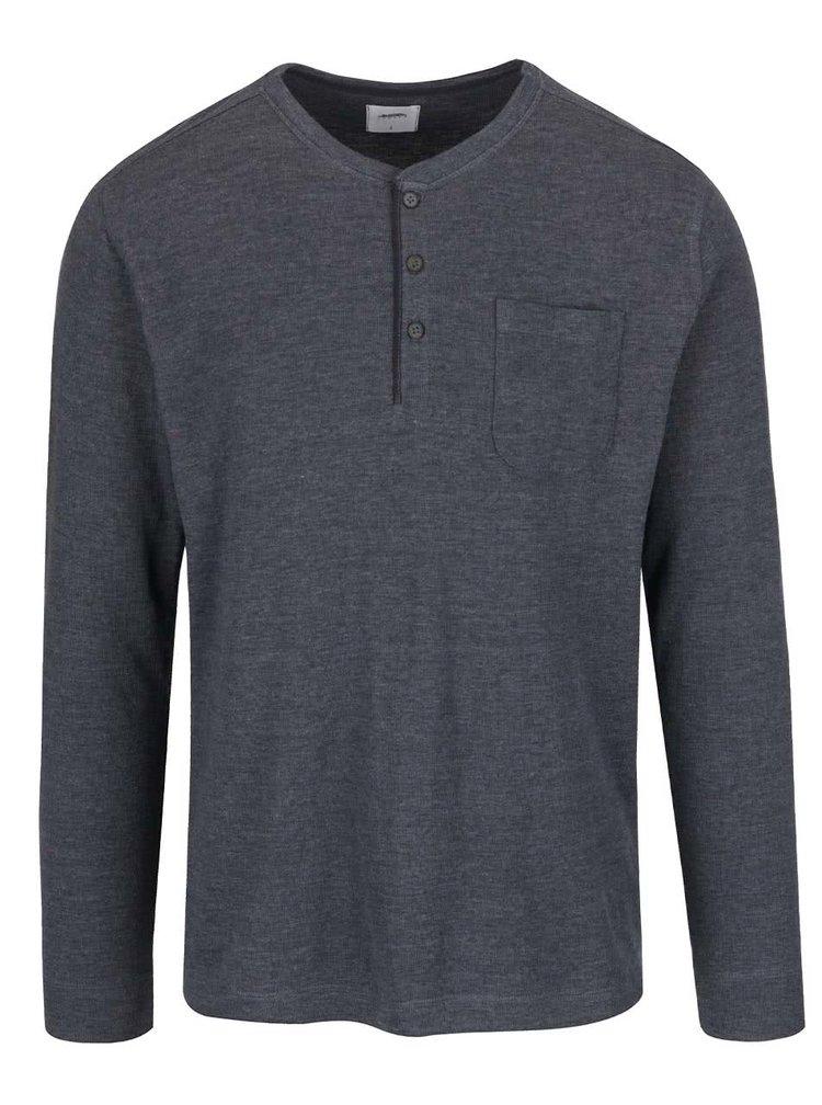 Šedé triko s náprsní kapsou Burton Menswear London