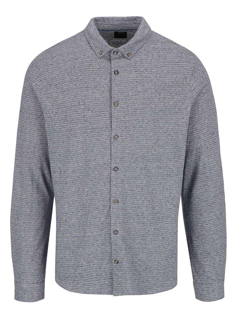 Modrá pruhovaná košile Burton Menswear London