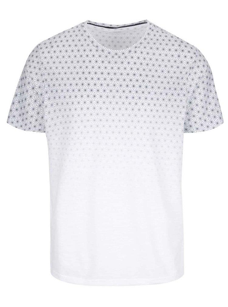 Bílé vzorované triko Burton Menswear London