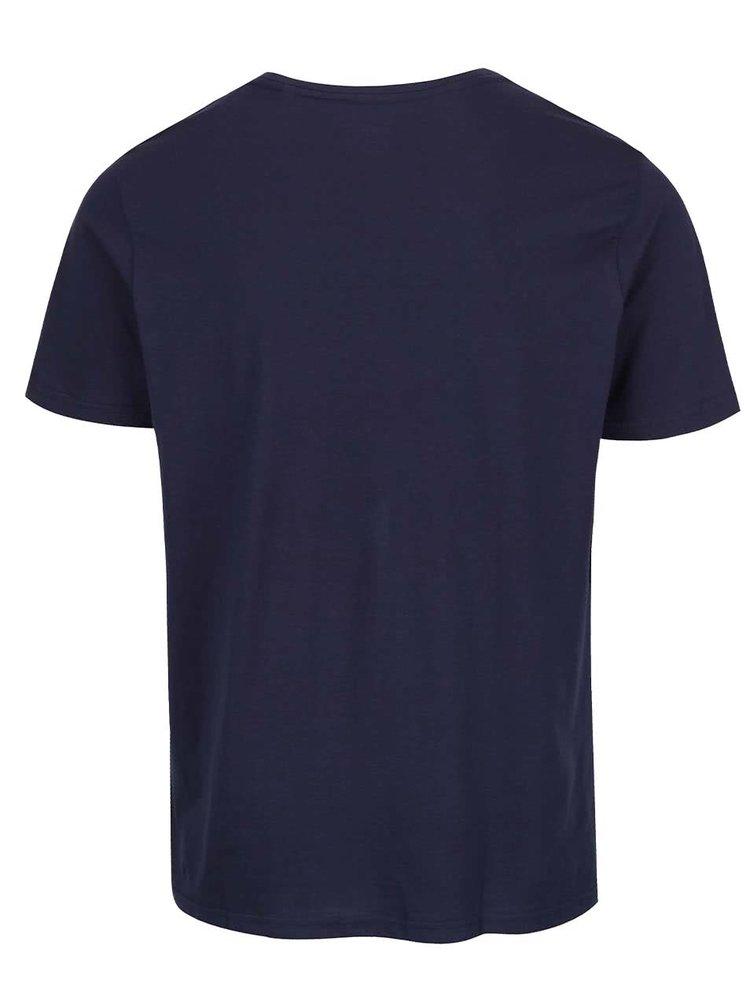 Tricou bleumarin Burton Menswear London din bumbac