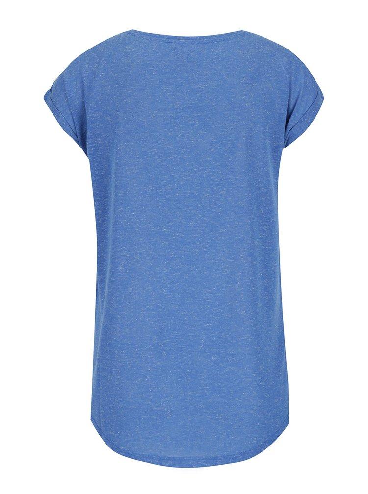 Modré tričko s příměsí lnu ONLY Rita