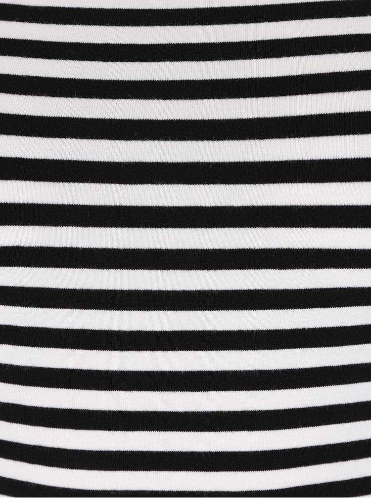Černo-bílé tričko ONLY Live