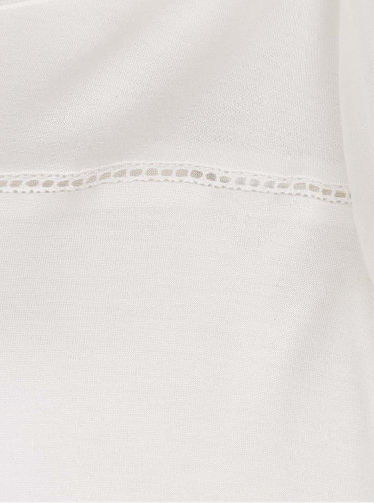 Krémové tričko s krátkým rukávem Jacqueline de Yong Sika
