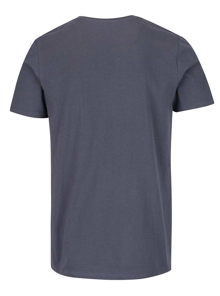 Šedomodré triko s potiskem Jack & Jones Form