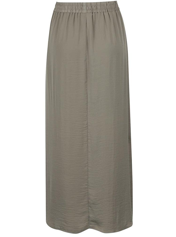 Zelená maxi sukně s rozparky VILA Melli