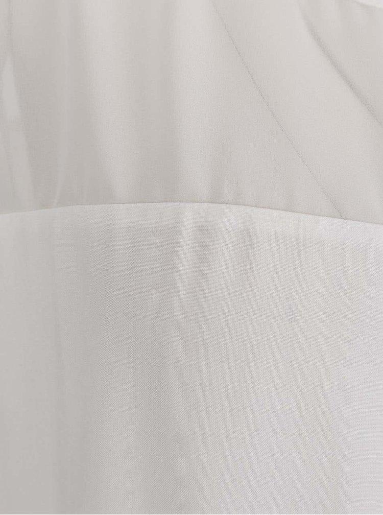 Krémová volná halenka s průsvitným sedlem VILA Mase