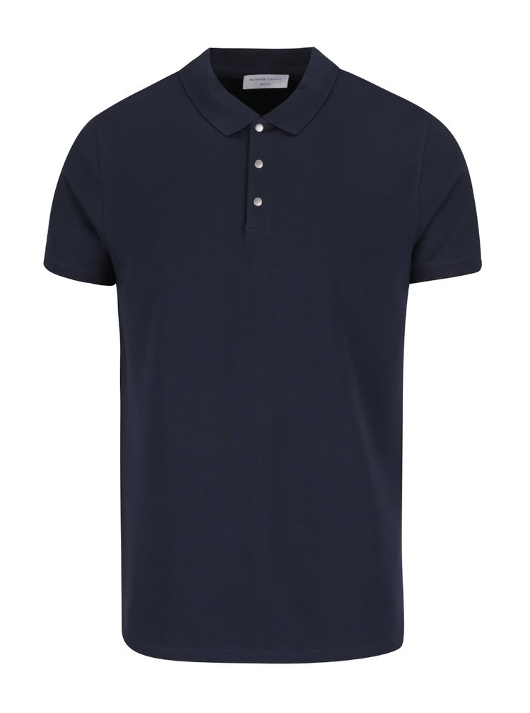 Tricou albastru închis Selected Homme Damon