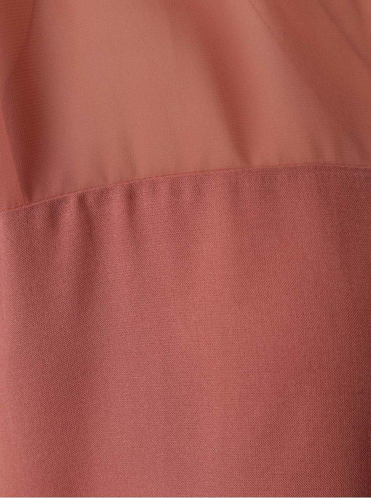 Top roz pal VILA Mase cu plasă