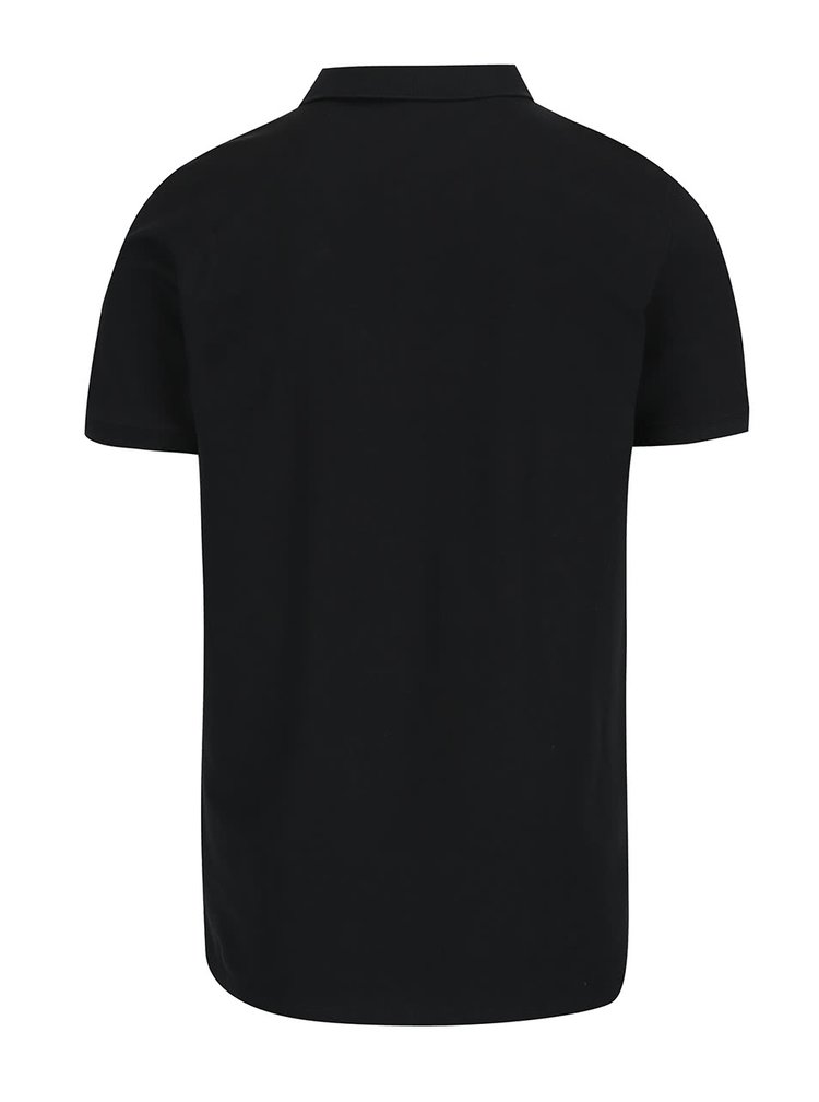 Černé polo triko Selected Homme Damon