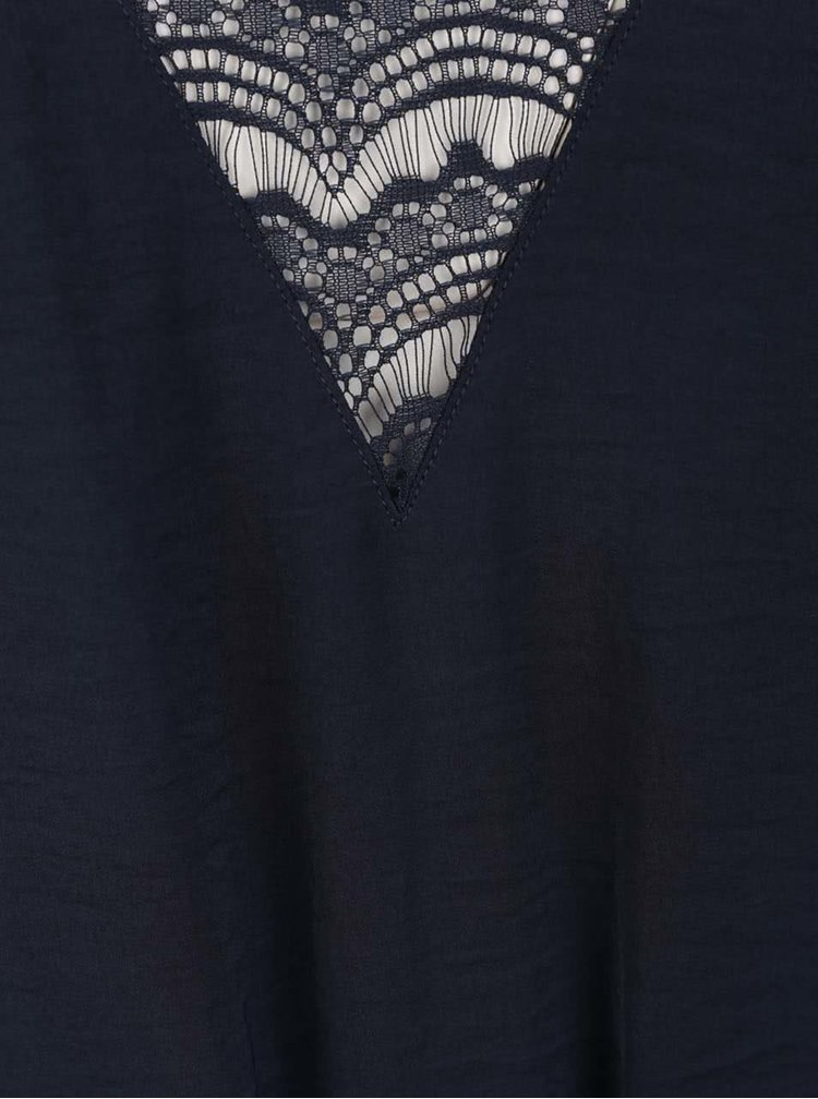 Rochie albastru inchis VILA Melli cu dantela