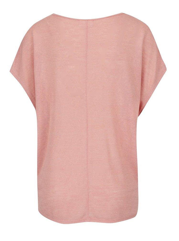 Tricou roz pal VILA Sumi