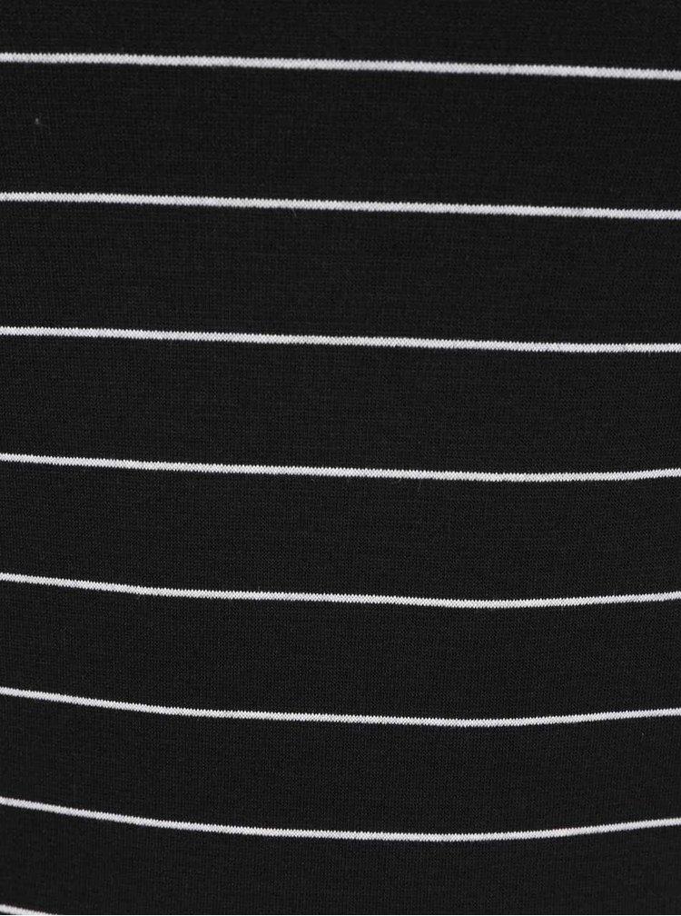 Bílo-černé pruhované šaty VILA Tinny