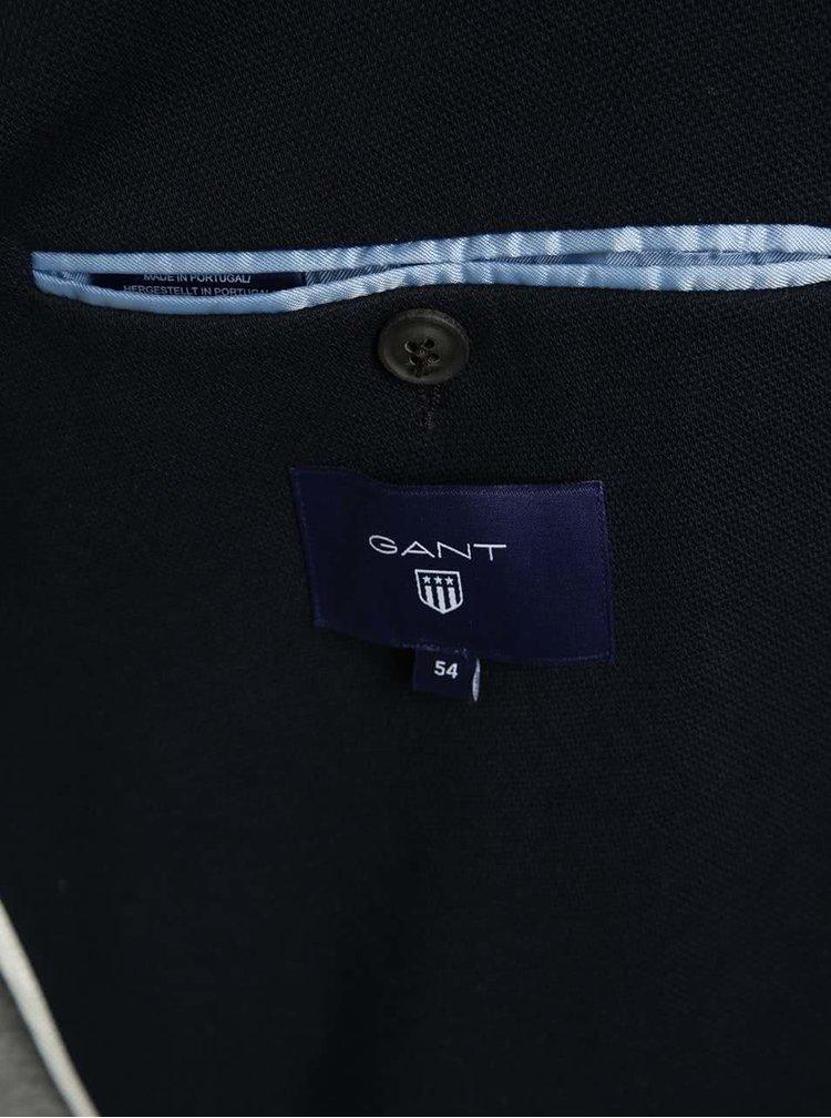 Tmavě modré pánské sako GANT Pique