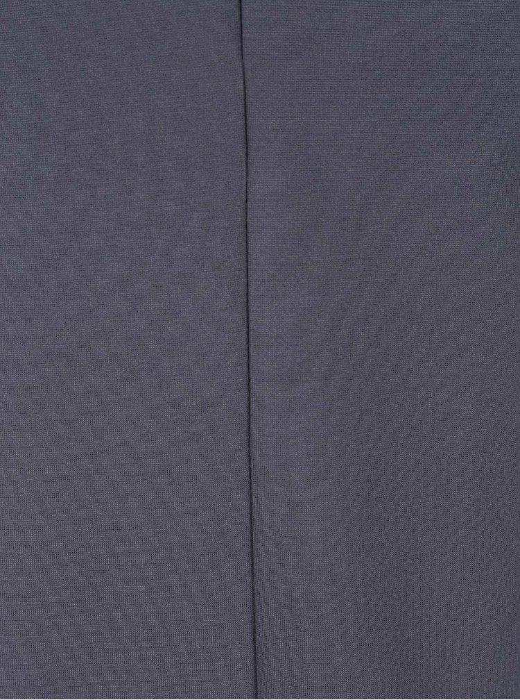 Modrošedé šaty s véčkovým výstřihem Selected Femme Anya
