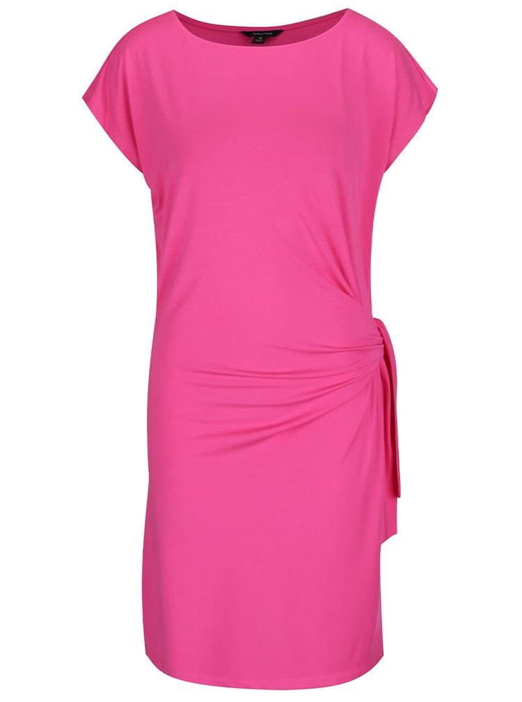 Rochie roz Nautica cu model petrecut
