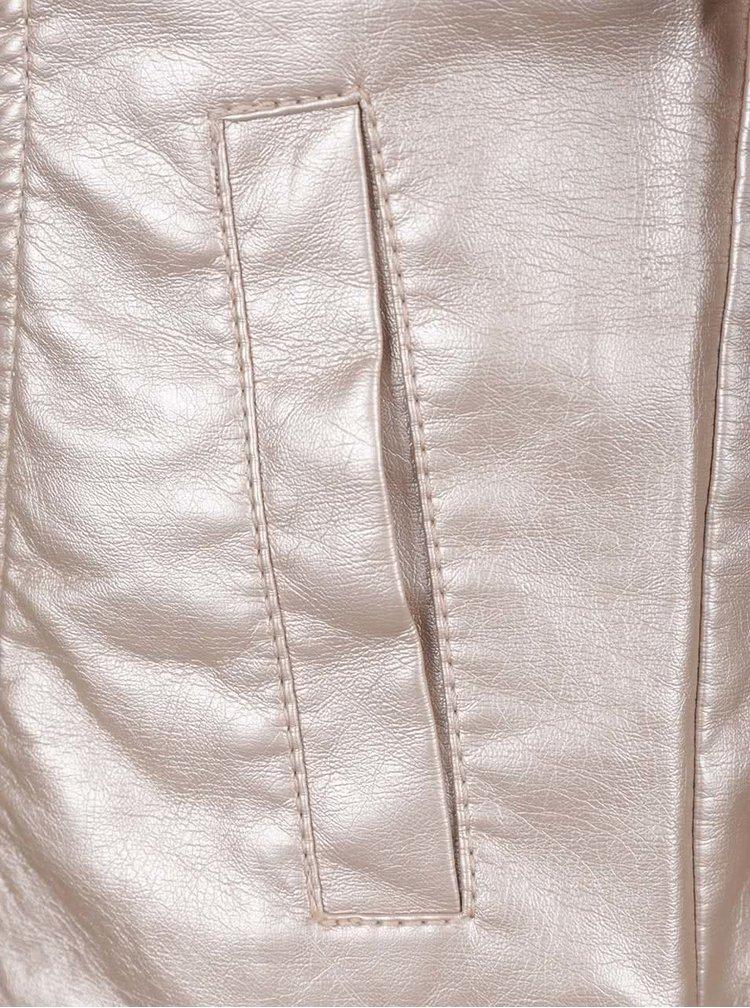 Lesklý holčičí křivák v růžovozlaté barvě name it Mya