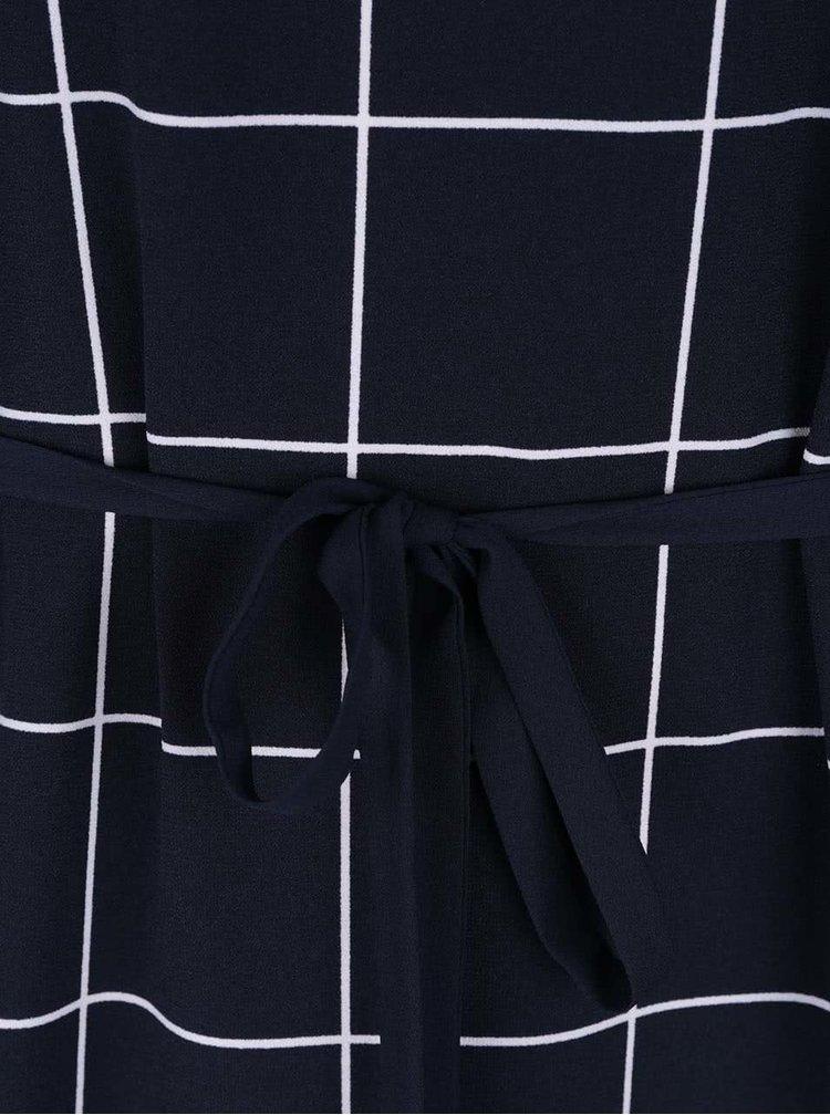Tmavomodré šaty so zaväzovaním Nautica