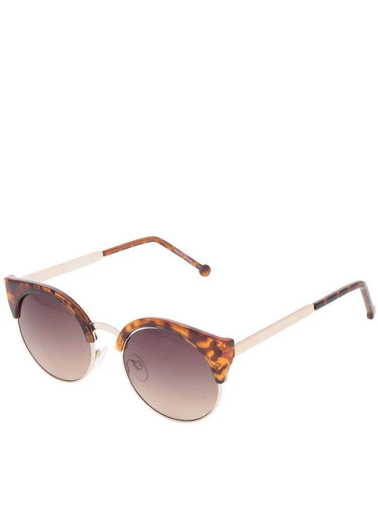 Hnědé vzorované sluneční brýle TALLY WEiJL