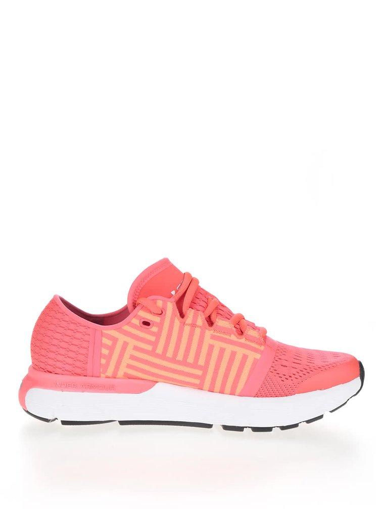 Oranžovo-růžové dámské tenisky Under Armour UA W Speedform Geminii