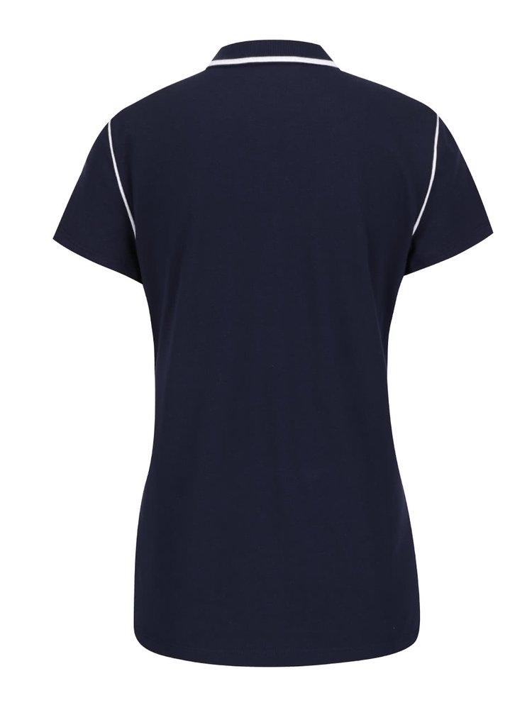 Tricou polo bleumarin Nautica din bumbac cu detalii albe și logo