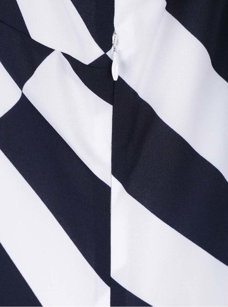 Rochie alb & albastru Nautica cu model