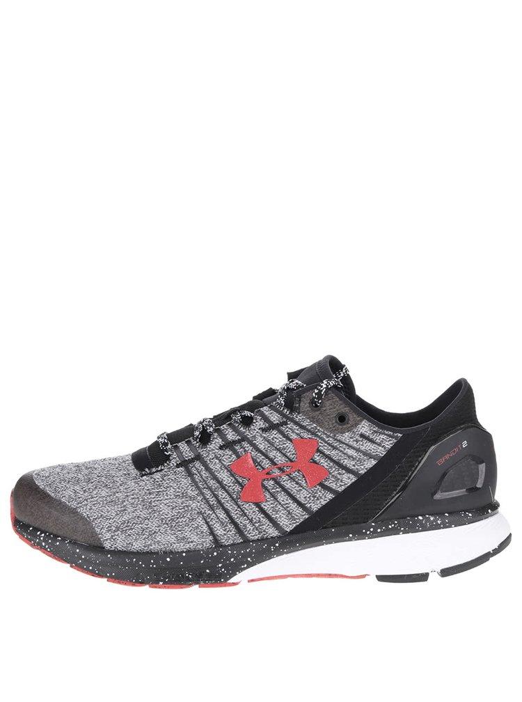 Pantofi sport negru & gri melanj Under Armour UA Charged Bandit 2 cu model