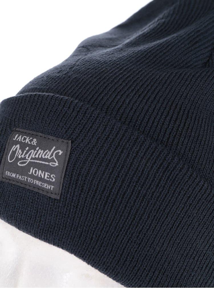 Căciulă albastru închis Jack & Jones Dna cu logo