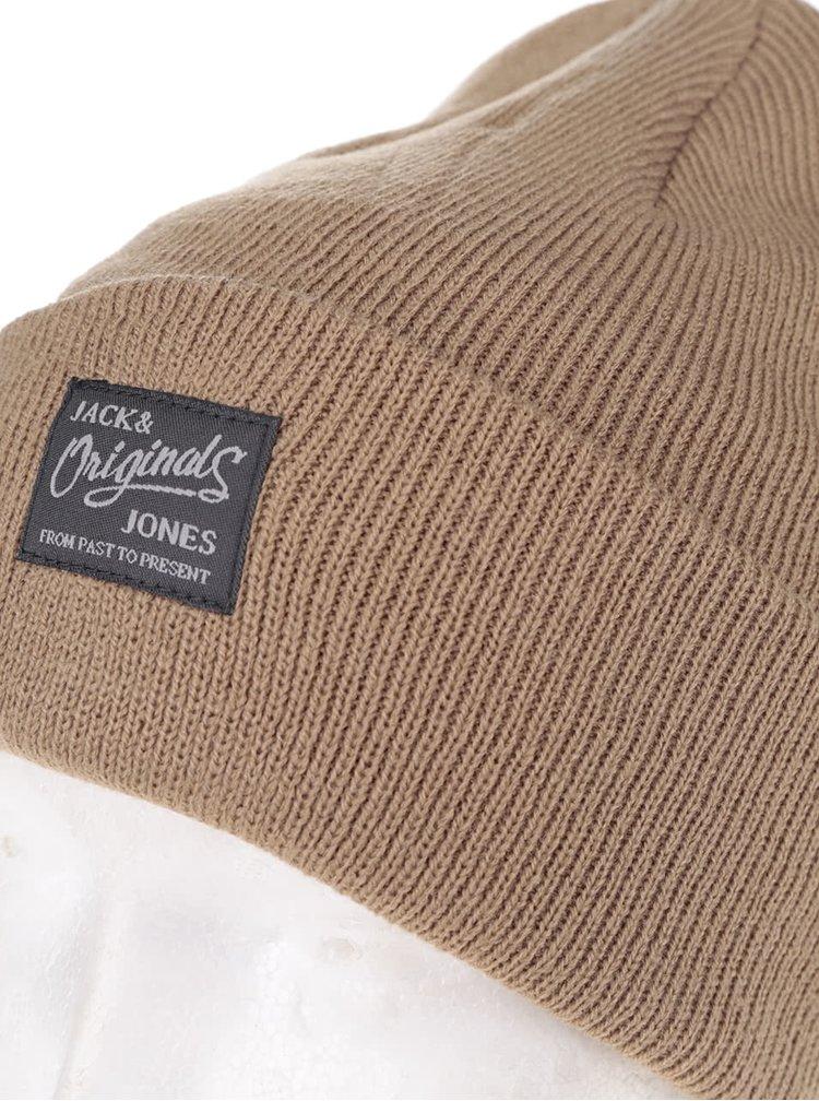 Caciula bej Jack & Jones Dna cu logo